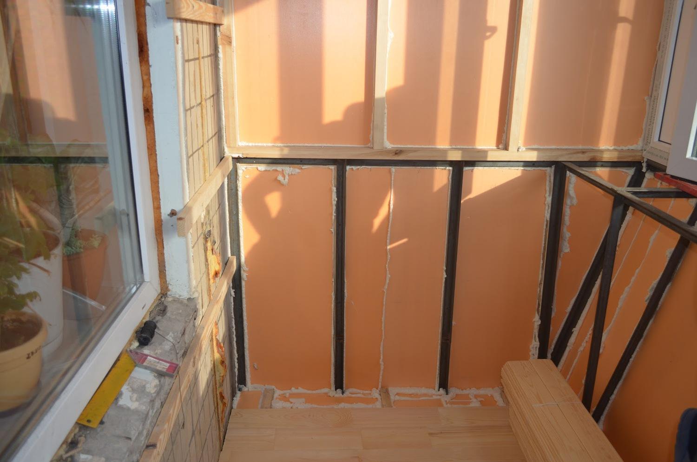 Чем утеплить балкон изнутри пошаговое фото.